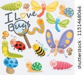 we all love bugs | Shutterstock .eps vector #1151468066