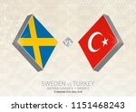 sweden vs turkey  league b ... | Shutterstock .eps vector #1151468243