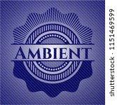 ambient badge with denim... | Shutterstock .eps vector #1151469599