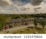 Small photo of Ashbourne, Derbyshire - 2nd August 2018 - An aerial view of the Callow Inn at Callow Top Holiday Park in the Derbyshire Peak District National Park