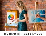 painting art classes. drawings... | Shutterstock . vector #1151474393