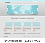 website template | Shutterstock .eps vector #115147939