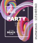 night party banner template for ... | Shutterstock .eps vector #1151485463