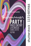 night party banner template for ... | Shutterstock .eps vector #1151485466