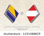 bosnia and herzegovina vs... | Shutterstock .eps vector #1151488829