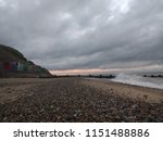 seascape view across vast sandy ...