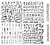 hand drawn doodle arrows ... | Shutterstock .eps vector #1151490206