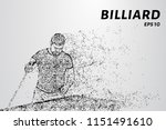 particle billiards. the player... | Shutterstock .eps vector #1151491610