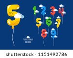 color balloons numbers for... | Shutterstock .eps vector #1151492786