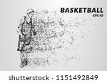 basketball player leads the... | Shutterstock .eps vector #1151492849