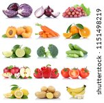 fruits and vegetables... | Shutterstock . vector #1151498219