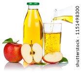 apple juice pouring apples... | Shutterstock . vector #1151498300