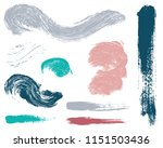 paint lines grunge collection.... | Shutterstock .eps vector #1151503436