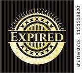 expired shiny emblem   Shutterstock .eps vector #1151503820