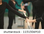 hands of sportswomen on the...   Shutterstock . vector #1151506910