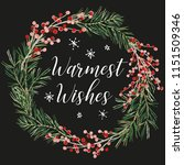 christmas wreath with quote... | Shutterstock .eps vector #1151509346