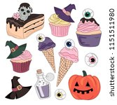 halloween color vector... | Shutterstock .eps vector #1151511980