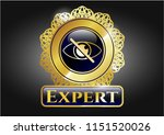 gold shiny emblem with blind... | Shutterstock .eps vector #1151520026
