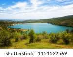 view of the reservoir in the... | Shutterstock . vector #1151532569