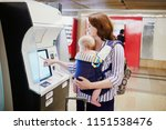 young mother with her little...   Shutterstock . vector #1151538476