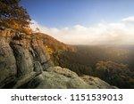 wonderful nature in autumn in... | Shutterstock . vector #1151539013