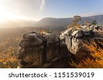wonderful nature in autumn in... | Shutterstock . vector #1151539019