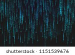 binary matrix background.... | Shutterstock .eps vector #1151539676