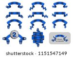 solemn gift ribbon  winning... | Shutterstock .eps vector #1151547149