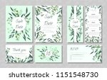 eucalyptus design. wedding... | Shutterstock .eps vector #1151548730