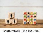 few big clients vs many small... | Shutterstock . vector #1151550203