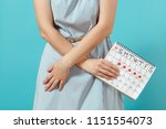 cropped illness woman in blue... | Shutterstock . vector #1151554073
