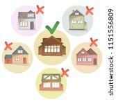 choosing right house for living ... | Shutterstock .eps vector #1151556809