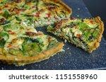 vegetarian mediterranean quiche ... | Shutterstock . vector #1151558960