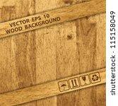 vector wooden texture background | Shutterstock .eps vector #115158049