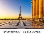 view of eiffel tower from... | Shutterstock . vector #1151580986
