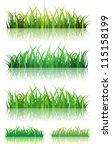 Spring Or Summer Green Grass...