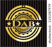 dab gold shiny badge | Shutterstock .eps vector #1151587979