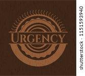 urgency wood emblem. retro | Shutterstock .eps vector #1151593940