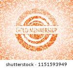 gold membership abstract orange ... | Shutterstock .eps vector #1151593949