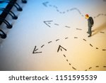 business decision concept.... | Shutterstock . vector #1151595539