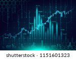 stock market or forex trading... | Shutterstock . vector #1151601323