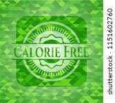 calorie free green emblem with... | Shutterstock .eps vector #1151602760