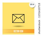 mail vector icon | Shutterstock .eps vector #1151610713