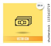 money vector icon | Shutterstock .eps vector #1151610719