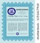 light blue invitation template. ... | Shutterstock .eps vector #1151617910