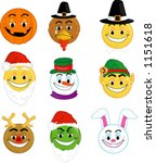 Holiday Smiley Type Faces