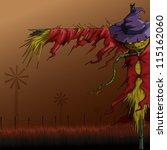 vector illustration of scary... | Shutterstock .eps vector #115162060
