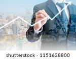 double exposure of professional ... | Shutterstock . vector #1151628800