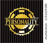 personality gold badge or emblem | Shutterstock .eps vector #1151629280
