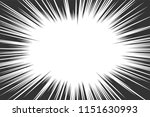 comic book radial lines... | Shutterstock .eps vector #1151630993